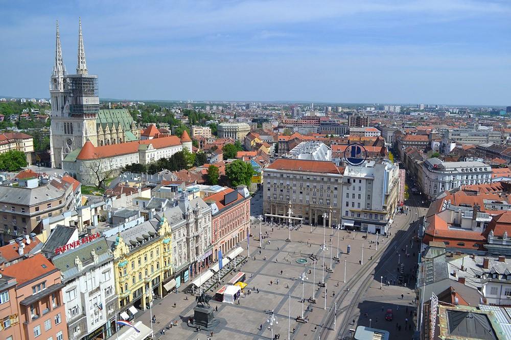 Вид на Загреб, Хорватия