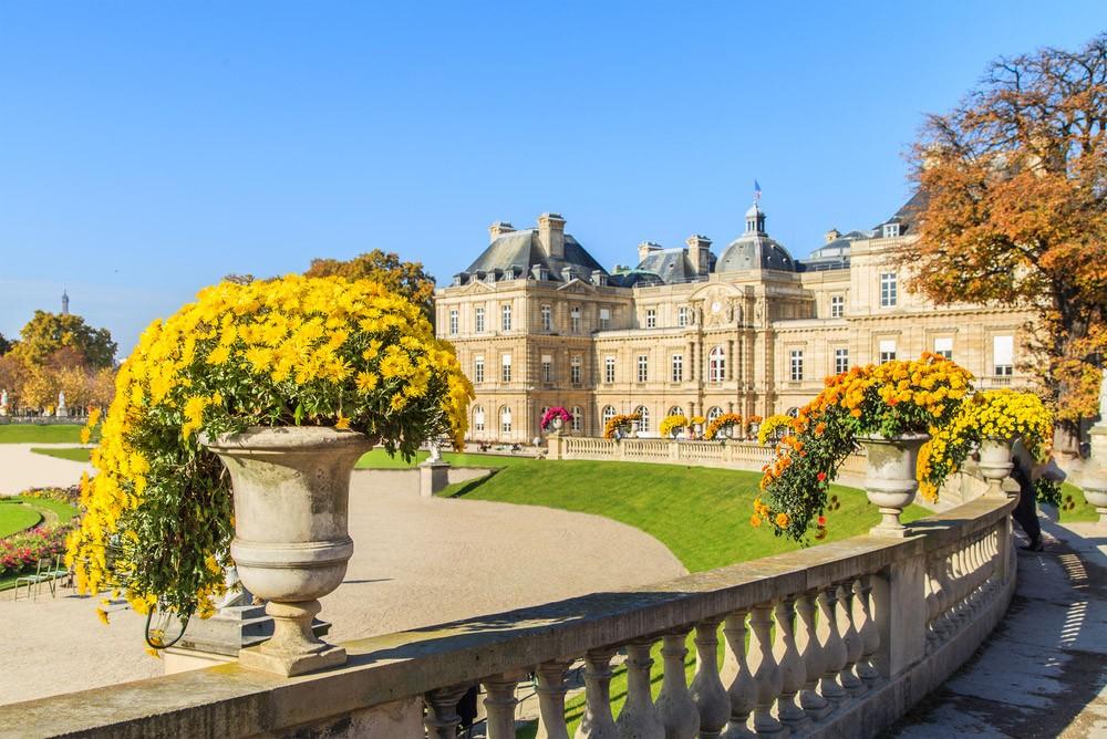 Маршрут короткой поездки в Париж-Люксембургский сад