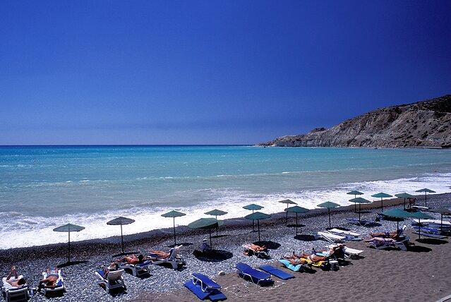 A7YYHF Кипр, район пафос, пляж Писсури